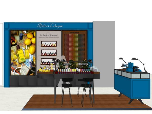 premium beauty news atelier cologne ouvre un espace sur mesure au printemps haussmann. Black Bedroom Furniture Sets. Home Design Ideas