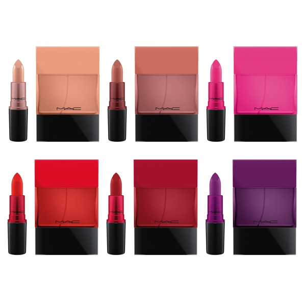 """Shadescents"" fragrances are inspired by iconic M.A.C Cosmetics lipstick shades. © M.A.C Cosmetics"