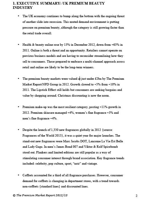 Premium Beauty News - United Kingdom: Premium Beauty Market Report - UK