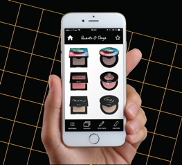 The Albéa Virtual Makeup allows showcasing the pack and its makeup effect live on the face.