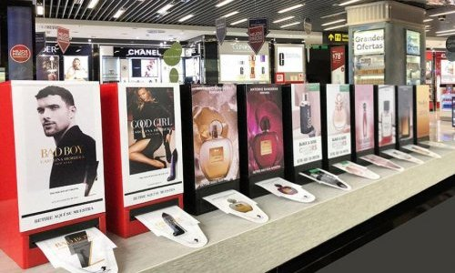Adhespack offers contact-free in-store fragrance sampling