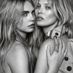 Kate Moss and Cara Delevingne pose for Burberry © Copyright Burberry/Testino