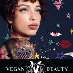 KVD Vegan Beauty Exclusive Campaign Image for Ulta Beauty launch, featuring icons and illustrations by Brazilian artist Ana Strumpf