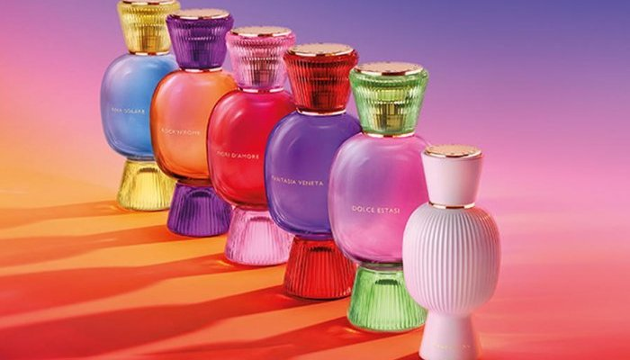 Verescence manufactures gems-like bottles for the Bvlgari Allegra collection