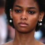 A soft makeup look at Valentino