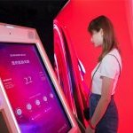 An interactive skincare wall unlocks your skin analysis results at the SK-II Future X Smart Store with a mere read of your face. (Photo: ©The Procter & Gamble Company)