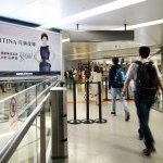 Brand Ambassador in China, actress Ma Yili, on a billboard inside Shanghai airport