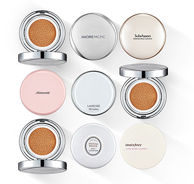 AmorePacific offers a total of 19 cushion products from its 13 brands in more than 10 countries in Asia and North America