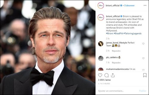 Hot on the heels of news that Brad Pitt would be its new ambassador, Brioni...