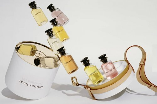 The perfumes will be refillable at a perfume fountain in all Louis Vuitton...