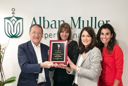 "Alban Muller was awarded ""Most Sustainable Company"" at NYSCC's Future of..."