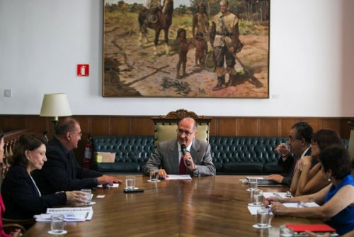 On January 23, in the morning, Gov. Alckmin met with animal defence...