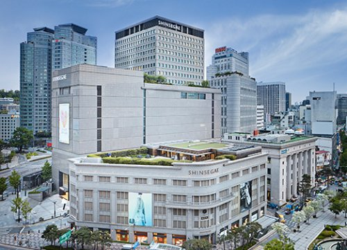 Shinsegae's flagship store in Myeong-dong, Seoul, South Korea. Photo...