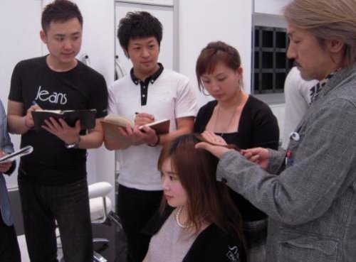 Shiseido hair stylist training program