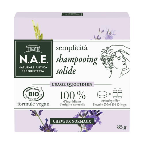 N.A.E. debuts solid cosmetics with a shampoo bar