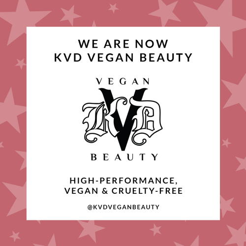 Effective immediately, the brand has been renamed KVD Vegan...